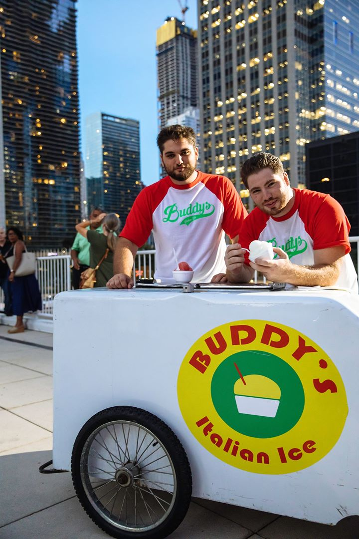 austin and frank battaglia at first major buddy's italian ice event